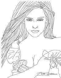 beautiful avril lavigne coloring pages hellokids
