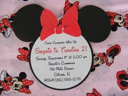 baby shower invitations handmade minnie head shaped papaer