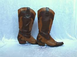 light colored cowgirl boots cowboy boots genuine leather boots light brown and dark brown
