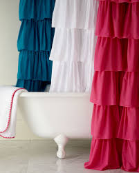 India Shower Curtain India Ruffle Shower Curtain