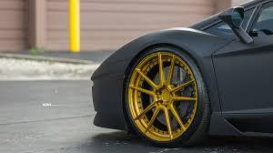 matte black car satin matte black lamborghini aventador gets adv 1 wheels my car