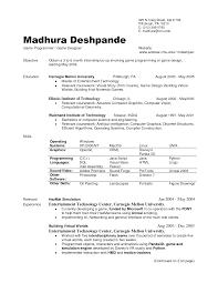 Student Internship Resume Template Interesting Internship Resume Sample For Computer Science With