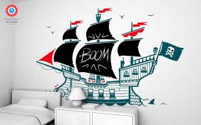 pirate board wall decal chalkboard kids wall decals e glue pirate boat chalkboard wall decals