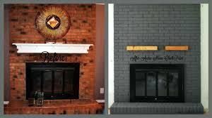 modern painted brick fireplace painting fireplaces ideas whitewash