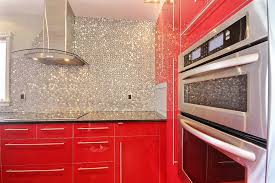 red backsplash tile modern aluminum mosaic tile peel u0026 stick