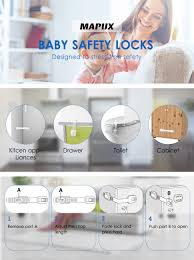 Child Safety Locks For Kitchen Cabinets Amazon Com Mapux Baby Safety Locks Straps Child Safety Locks For