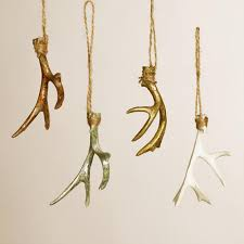 deer antler ornaments set of 4 world market