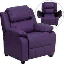 deluxe padded contemporary purple kids recliner d bt 7985 kid