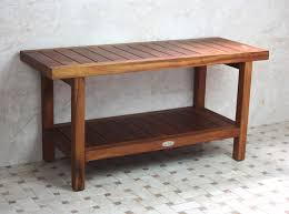 Bathroom Bench With Storage Teak Bathroom Bench For Everyone In The Family Teak Furnitures