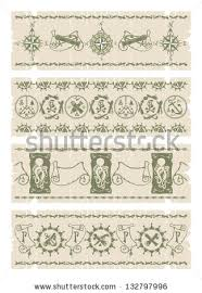 borders pirate ornaments 2 vector stock vector 132797996