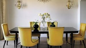 Yellow Chairs Upholstered Design Ideas Interior Design For Yellow Upholstered Dining Chair Dining Room