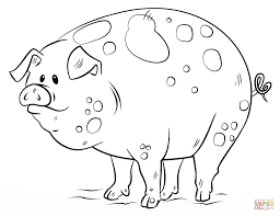 cartoon pig coloring page free printable coloring pages
