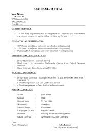 Resume Examples For First Job How To Make A Simple Job Resume Simple Job Resume Jennywashere Com