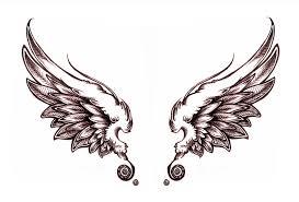 awful grey ink wings design