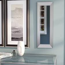 Bathroom Mirrors Brushed Nickel Brushed Nickel Mirror Wayfair