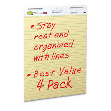 amazon com post it easel pad 25 x 30 inches sheets yellow