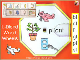 phonics word wheels and foldables for l blend by teachernyla