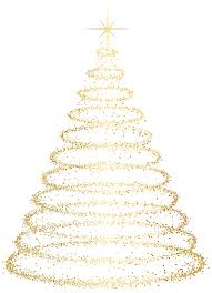 gold deco christmas tree transparent clip art image gallery