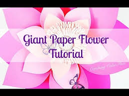 style flower alana style diy giant paper flower instructions youtube