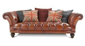 Brown Leather Sofa Dfs Dfs Leather Sofa Ebay