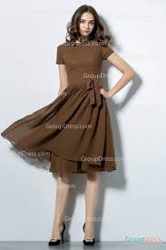 high neck dress simple coffee high neck draped bridesmaid dress with sleeve