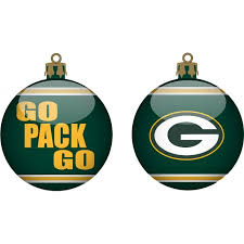 green bay packers team slogan glass ornament kryptonite