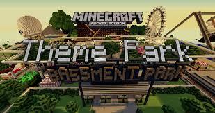 Mpce Maps Theme Park Map Mcpe 0 10 4 Minecraft Pocket Edition Youtube