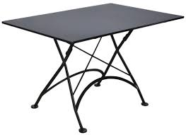 Rectangular Bistro Table Bistro 32 X 48 Inch Rectangular Steel Outdoor Folding Table