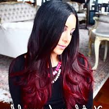 cut before dye hair mirror mirror salon spa before and after beautiful ombre hair