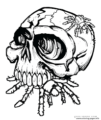 Spider Color Pages Spider Coloring Page Skulls Eat Spider Coloring Pages Halloween by Spider Color Pages