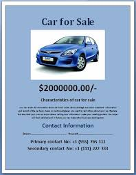 car for sale flyer template sample car for sale posterflyer