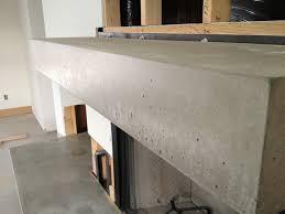 concrete fireplace mantel concrete planters