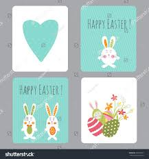 vector set easter small cards stock vector 388658797