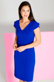 shift dress v neck textured shift dress in royal blue originals uk