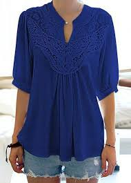navy blue blouse split neck lace panel navy blue blouse rotita com usd 28 15