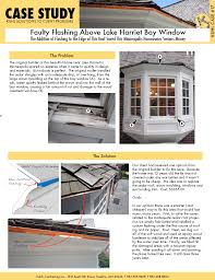 case studies kuhl s contracting case 17 faulty flashing above lake harriet bay window