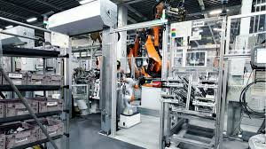 bmw factory robots kuka joining side members by human robot collaboration machining