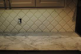 Kitchen Backsplash Tile Installation White Kitchen Backsplash Tile Beveled Arabesque Home Improvement