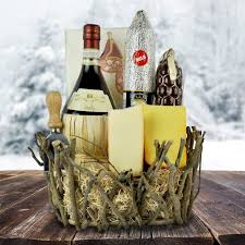 wine and cheese baskets the rustic wine meat and cheese gift basket wine gift baskets