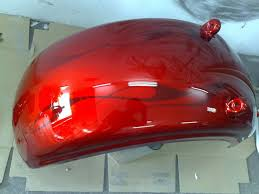 candy red with flames harley rocker c aire pro designs custom