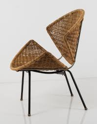 Wicker Chair Frank Watkins Enameled Metal And Wicker Chair 1956 Chaired