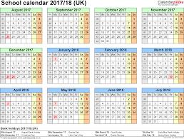 school calendars 2017 2018 as free printable word templates