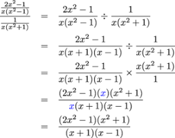 polynomial division and rational expressions simplifying complex