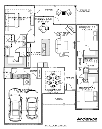 anderson house plan architectural drawings home designers
