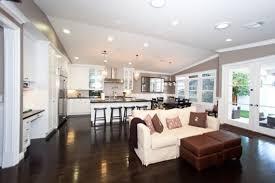 living room living room coastal flooring kitchen open space