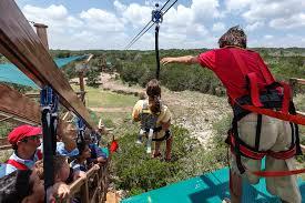 Backyard Zip Line Diy Caverns Opens Challenge Course Zip Line San Antonio Express News