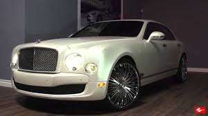 matte gold bentley matte white bentley mulsanne on 24 inch lexani forged wheels lf