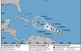 tropical storm maria has caribbean on hurricane watch again