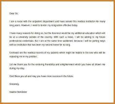 nursing resignation letters nursing job resignation letter sample