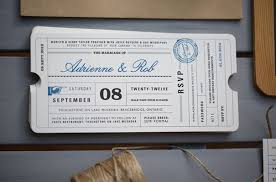 ticket wedding invitations wedding invitations flight ticket lovely lula stationery